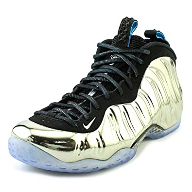 Nike Mens Air Foamposite One AS QS Mirror Chromeposite Silver/Black  Synthetic Size 8