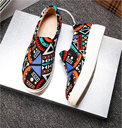 Ei&iLI Chaussures de Lok Fu Graffiti deep pan chaussures pour femmes grande taille , blue , 34