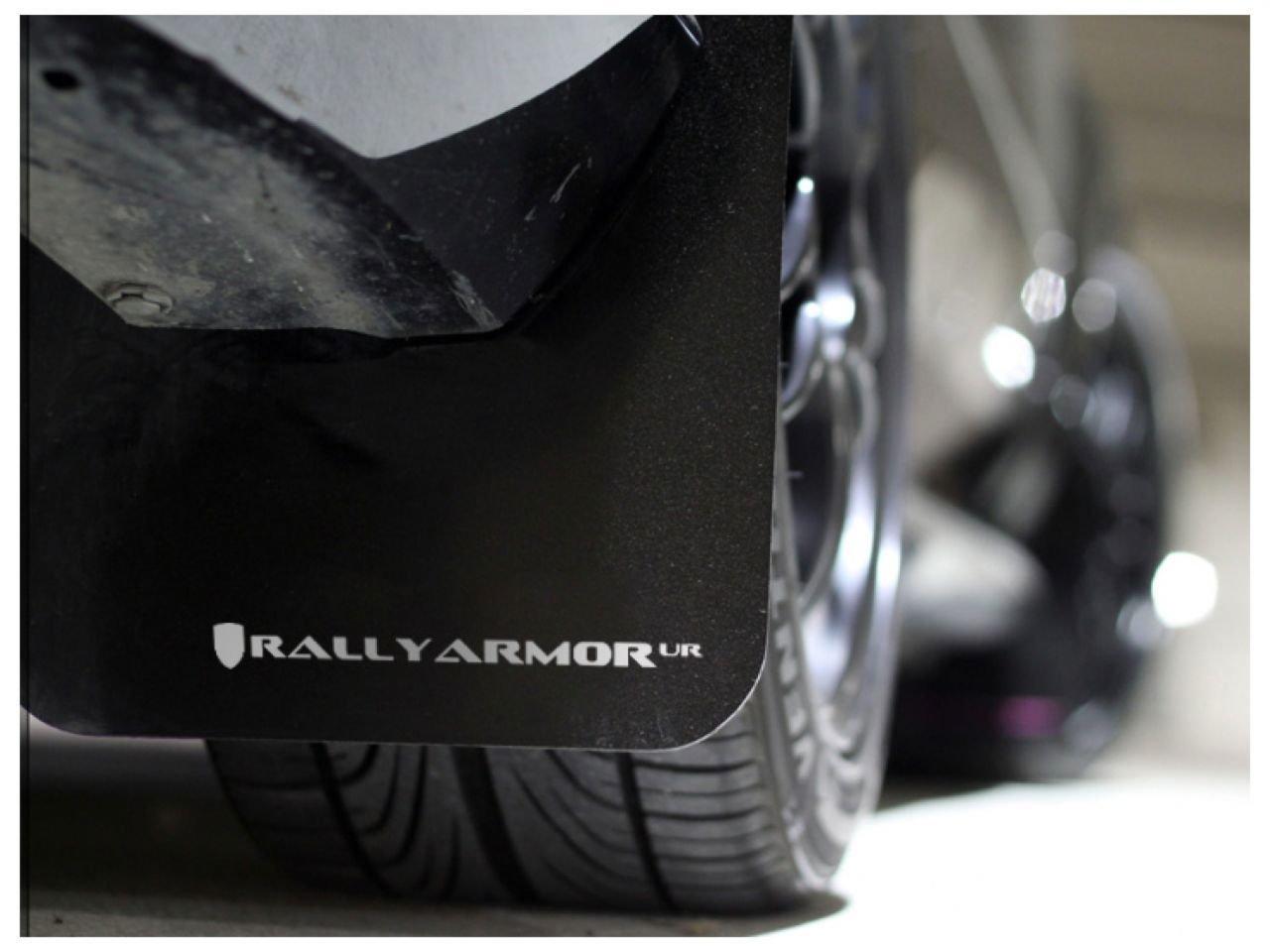12+ Subaru Impreza 5dr Hatch//4dr Sedan UR Rally Armor MF22-UR-BLK//WH Black White Mud Flap with Logo