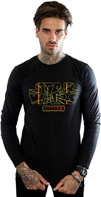Star Wars Hombre Target Logo Camiseta De Manga Larga Negro Medium: Amazon.es: Ropa y accesorios