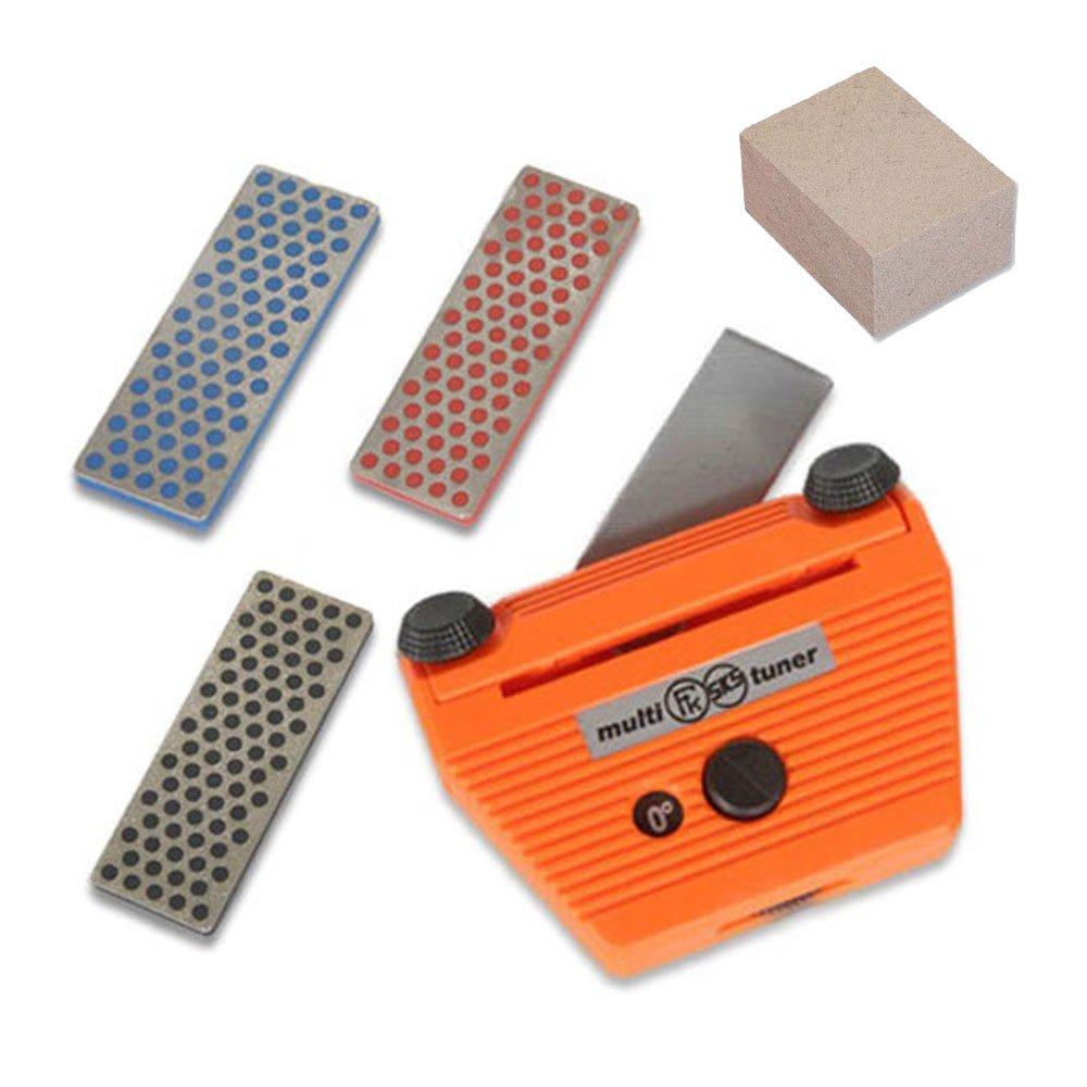 Complete Edge Care Kit Base-Side Ski Angle Tool +3 diamonds +Gummi stone