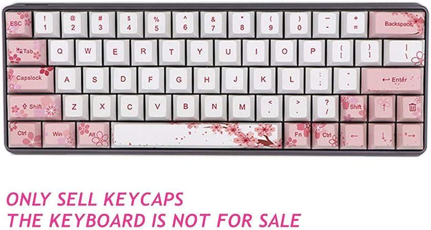 Sunzit Keycaps, 129 Keys Cherry Blossom Teclado mecánico ...