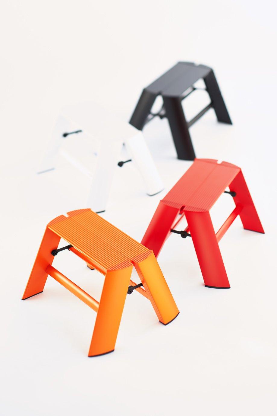Hasegawa Ladders ML1.0-1OR Lucano Step Ladder Orange