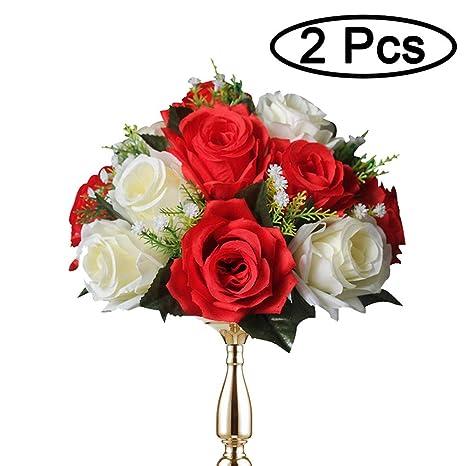 2 Piezas / Set Bolas De Rosas, Bolas De Flores Con Bandejas ...