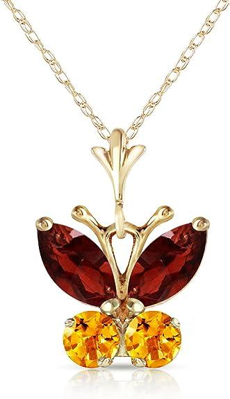 Three Garnet Briolettes Dainty Y-Chain Necklace Gold-Filled