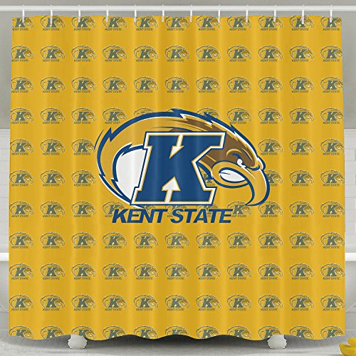 IWKULAD Kent State Golden Flashes Logo Customized Shower Curtains (Kent State Basketball Rugs)