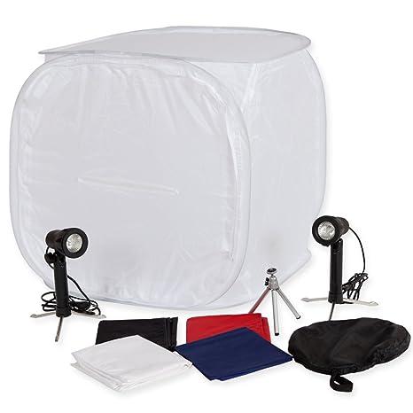 TecTake Equipo de fotografía, equipo para estudio de fotografía, caja de fotografía, estudio de fotografía