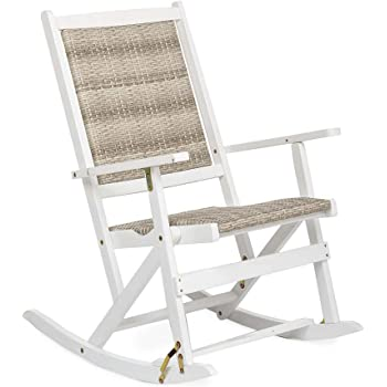 Amazon Com Claytor Folding Eucalyptus Outdoor Rocker