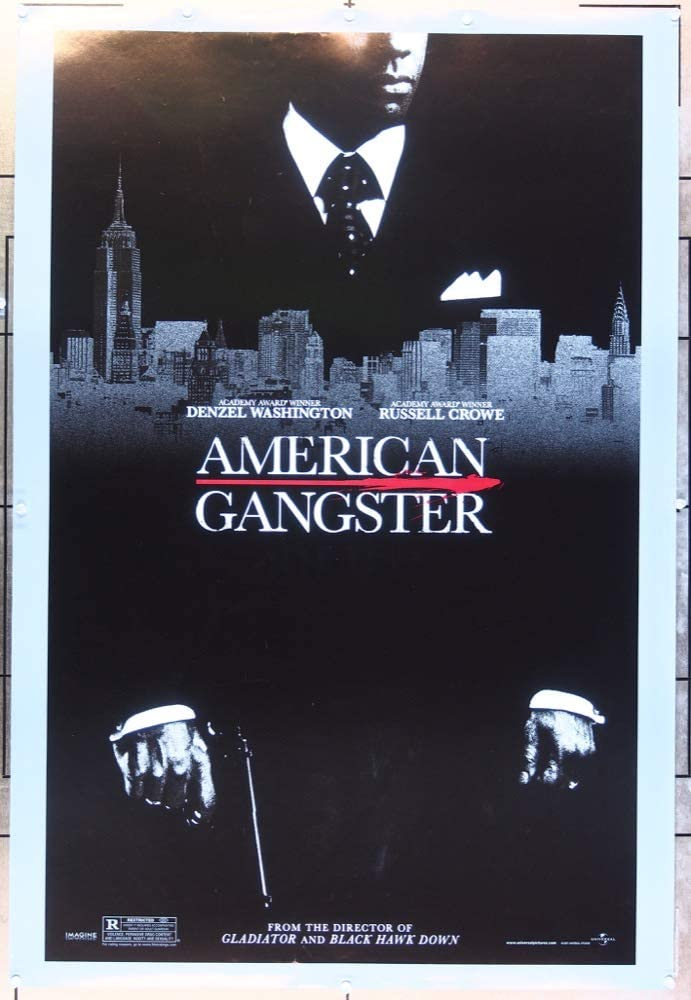 American Gangster 2007 Movie Poster Style A Denzel Washington Advance Poster 27x41 Film Directed By Ridley Scott At Amazon S Entertainment Collectibles Store