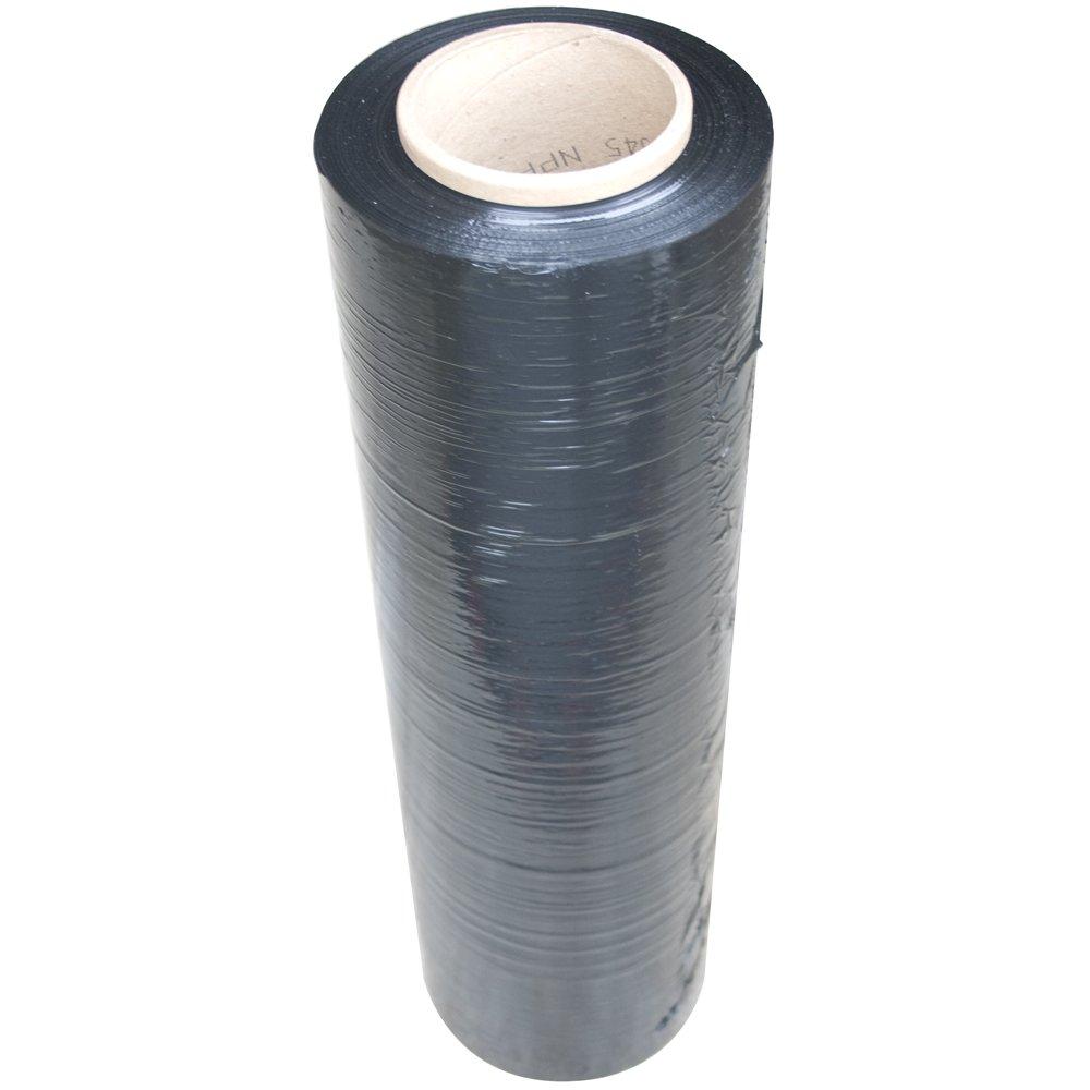 Interplas SF1808-BLA 80 Gauge Stretch Wrap Film, 1500-Feet, Black (Pack of 4)