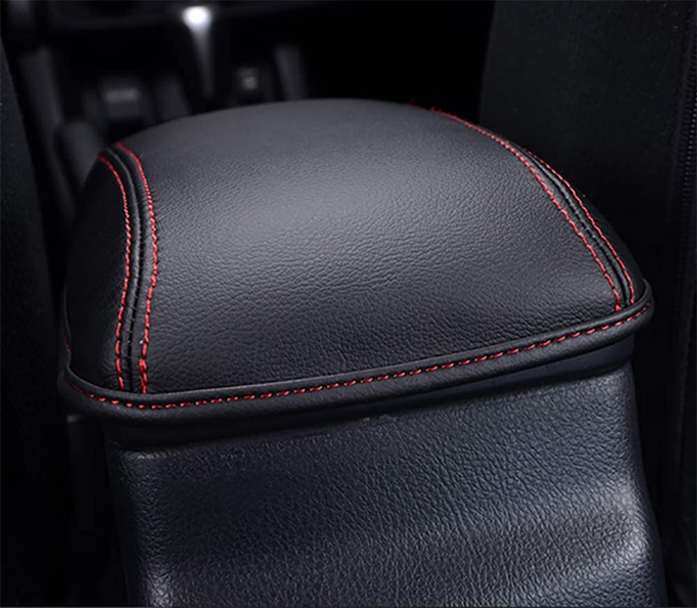 Leegi Car Armrest Box Cover Center Console Saver Covers for 2019 2020 Toyota Corolla,Black with Black Stitches