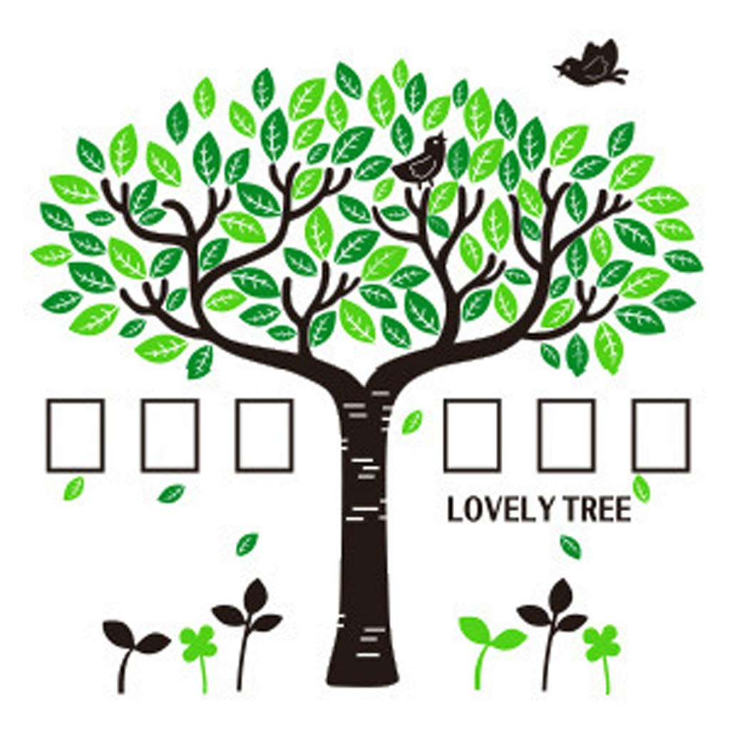 Photo Picture Frames,DIY 3D Decoration Tree Background Large Acrylic Wall Room Family Lovely Tree