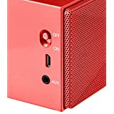 AmazonBasics Portable Bluetooth Speaker - Red