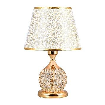 Lámpara de mesa de estilo europeo lámpara de cabecera del ...
