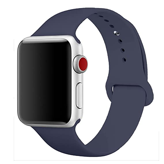 eada2405d892fe Sport Band for Apple Watch 42mm, Aimote Soft Silicone Replacement Strap for Apple  Watch Series