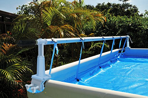 Kokido 24' Round Solaris Above Ground Cover Solar Reel For Intex Pools w/Tube ()