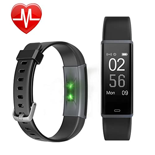 Fitness Tracker HR, Letscom Activity Tracker Watch with Heart Rate Monitor, IP67 Waterproof Smart Bracelet as Step Counter Pedometer Calorie Watch for Kids Women Men