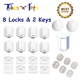 Amazon.com : Magnetic Cabinet Locks - Child & Baby Safety Cabinet ...
