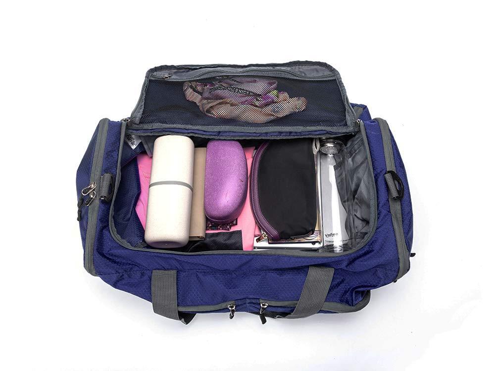 Bolsa de Viaje semanal Impermeable para Viaje con Compartimiento de Zapatos para Hombres y Mujeres HGJ1277 HANSHI Bolso Deportivo Plegable