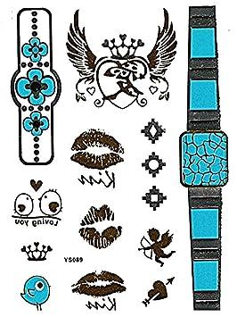 Ys089 - (5) - tatuaje - tatuaje falso - brazos - tobillos - muñeca ...