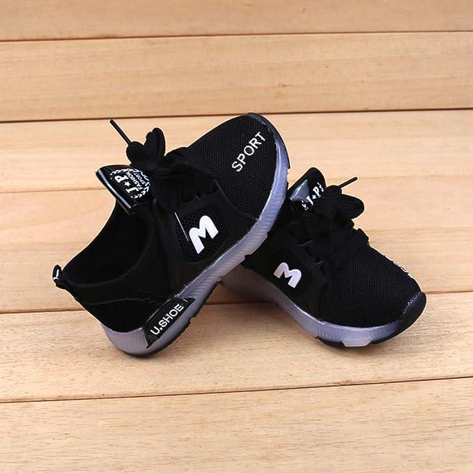 BBestseller zapatos de la malla zapatos casuales, Colorido zapatos luminosos LED flash zapatos zapatos deportivos Zapatos de Bebé Sandalias de vestir para ...