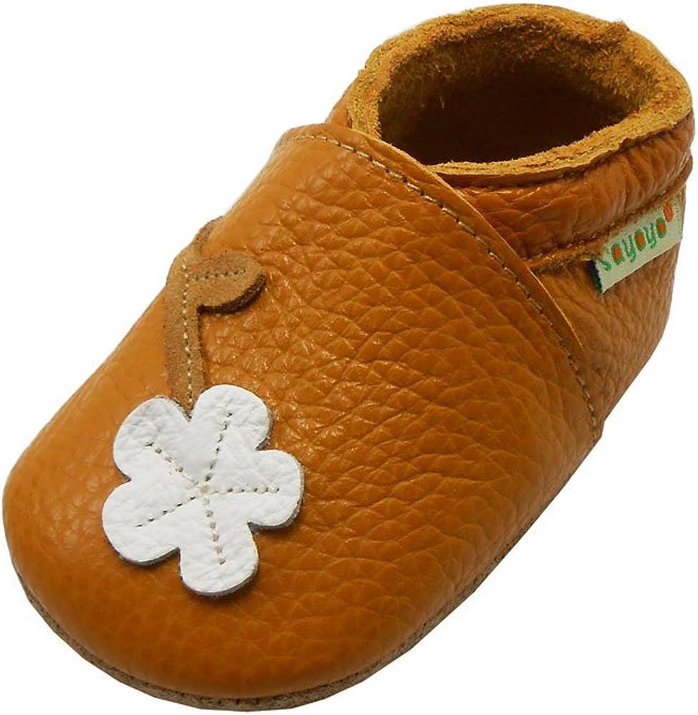 Sayoyo Suaves Zapatos De Cuero del Bebé Zapatillas la Flor del Ciruelo
