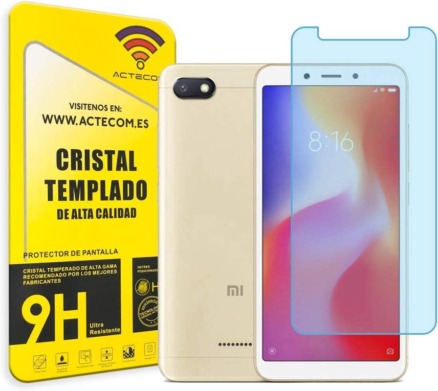 actecom® Protector Pantalla Cristal Templado para XIAOMI REDMI 6A ...