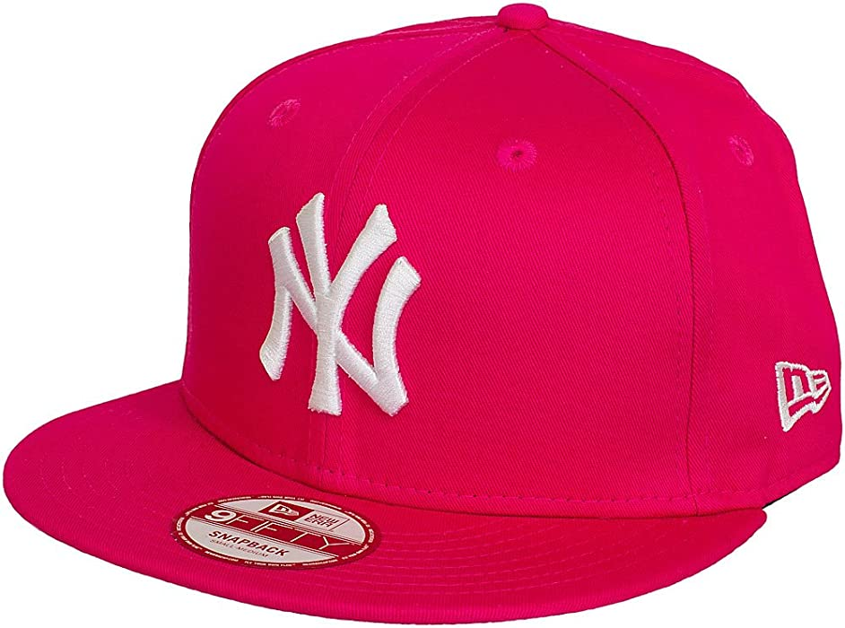 buy online 9652a f0fdc New Era 9Fifty Snapback Cap League Essential NY Yankees Pink Weiß   Amazon.de  Bekleidung