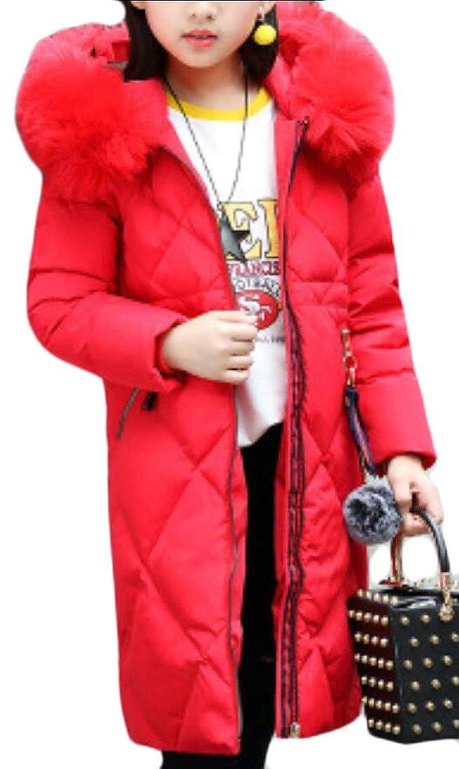 Generic Little Girl Winter Zipper Quilted Down Puffer Coat
