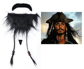 Inception Pro Infinite 1 X Fake Beard Pirata del Caribe Jack Sparrow For Parties Adhesivos para