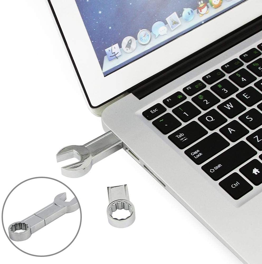 Multi-function-Usage Opener 32GB Metal USB 2.0 Flash Driver Spanner Wrench Shaped Memory Stick U Disk