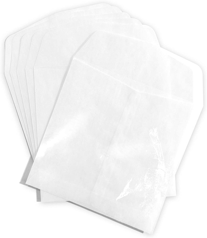 """100//Pack 5-1//2/"""" x 5-1//2/"""" Guardian Glassine Envelopes"""