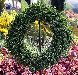 Flora Decor Preserved Garden Boxwood Wreath 22\