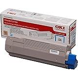 OKI C5650 Cyan Toner Cartridge Yield 2000 Pages