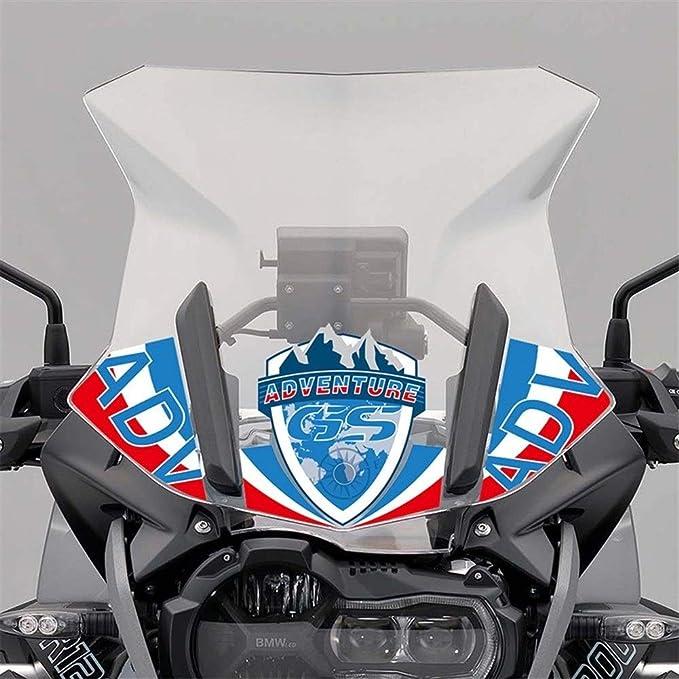 Aufkleber for BMW R1200GS R1250GS GS ADV LC Adventure Windschutzscheibe Windschutzscheibe Schirm Motorrad-Abziehbild-Aufkleber 1250 1200 GS GSA 2019 Color : 3pcs