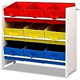Artiss Toy Box Storage Kids Multi-Bin Toy Organizer Rack
