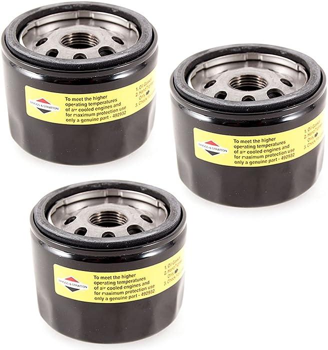 Briggs & Stratton Genuine OEM 492932 492932S Oil Filter (3 Pack)
