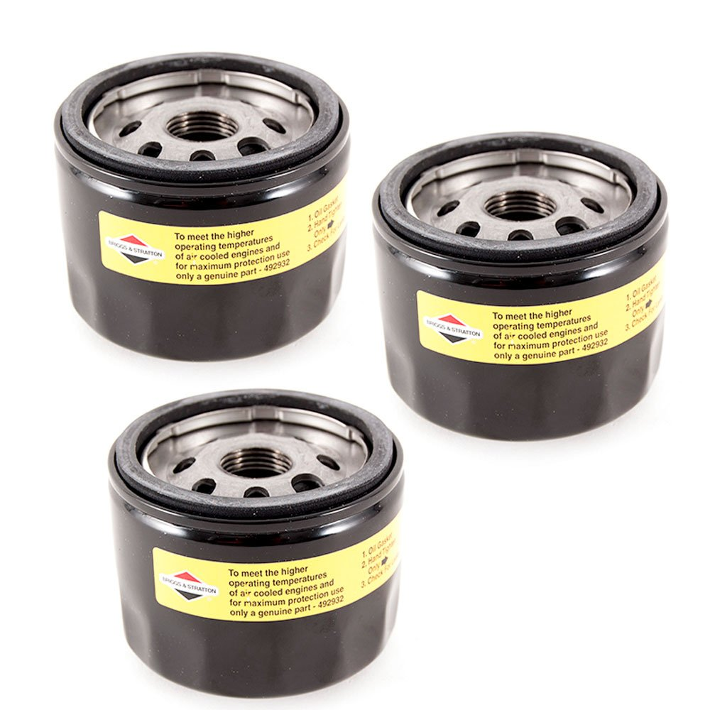 Briggs Stratton Genuine Oem 492932 492932s Oil Filter Vanguard Fuel 3 Pack Garden Outdoor