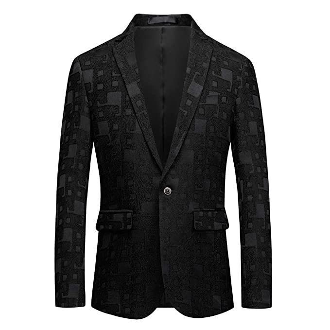 Amazon.com: MAGE MALE - Blazer floral para hombre con solapa ...