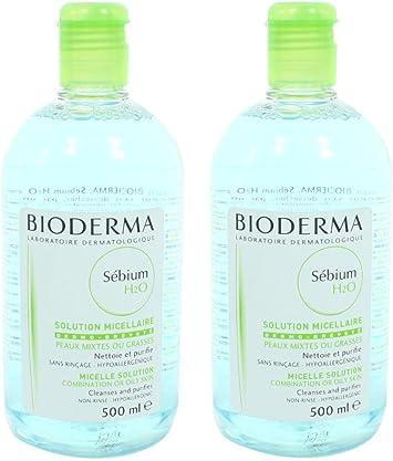 Bioderma Sebium H2O Micelle Solution, Combination or Oily Skin, 16.91 Fluid Ounce, 2 Pack! by Bioderma: Amazon.es: Salud y cuidado personal