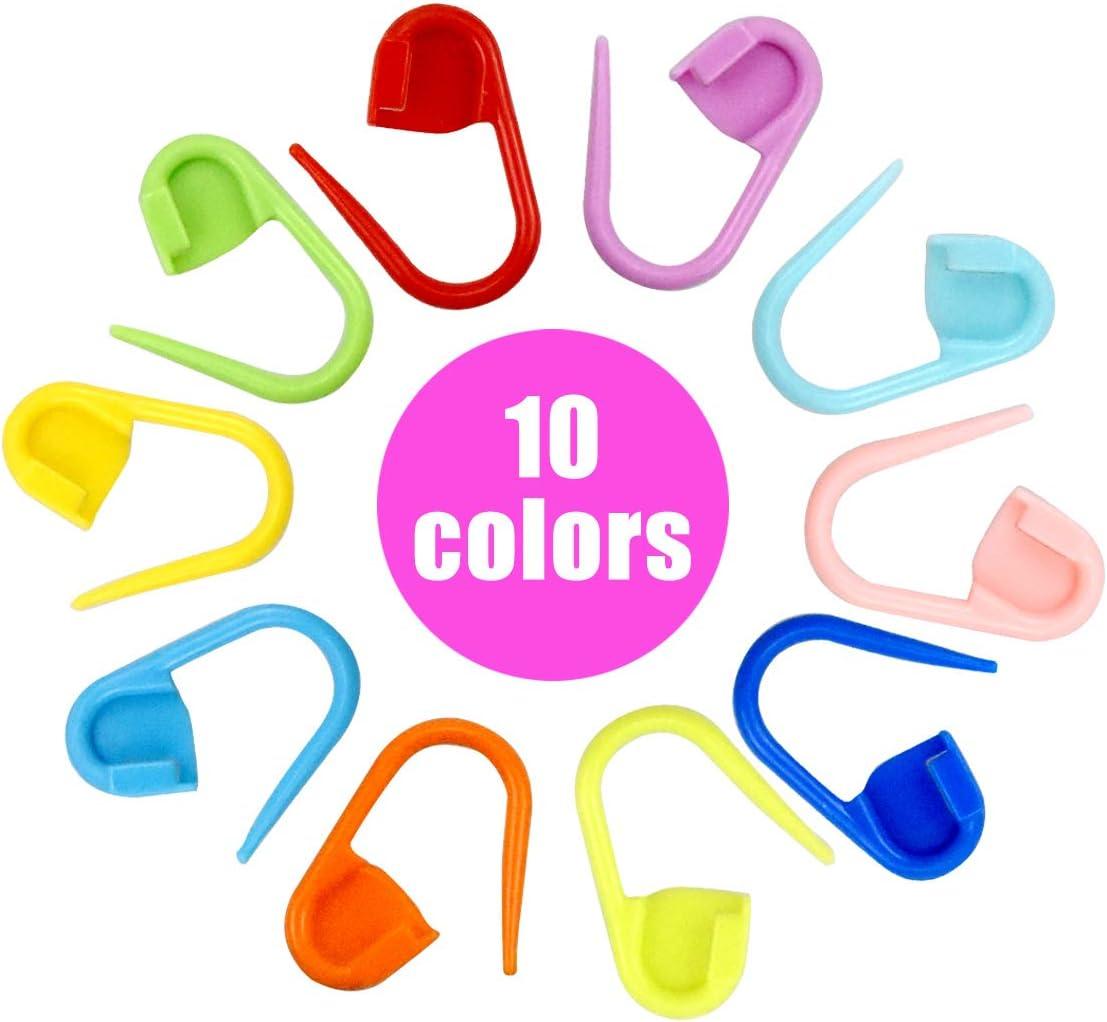 Dokpav 150 Piezas Marcadores de Puntos Ganchillo, Crochet Marcadores de Plástico, 10 Colores Marcadores Ganchillo
