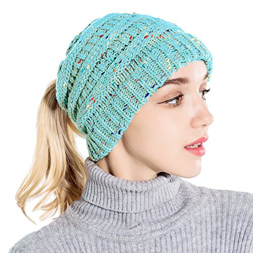 CHIDY Woman Baggy Warm Crochet Winter Wool Knit Ski Beanie Skull Slouchy Caps Hat Solid Color Comfortable Cap