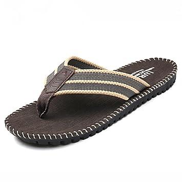 ALUK- Sommer Sandalen - Herren Füße Tragen Tragen Trend Einfache Strand Cool Pantoffeln ( Farbe : Schwarz , größe : 40 )