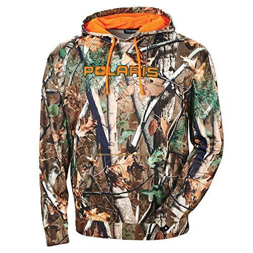 Polaris New OEM Mens Pursuit Camouflage/Blaze Orange Hoodie, X-Large, 286787909