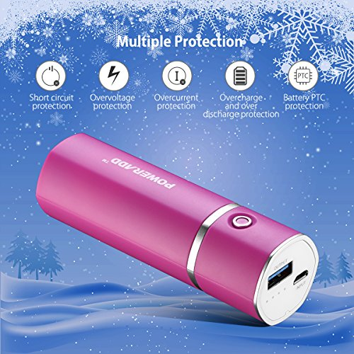 Poweradd Slim2 5000mAh moveable Charger vitality Bank External Battery for Smartphones and Tablets rose Red External Battery Packs