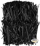 11 black wire ties - APTronix 1000 Premium Heavy Duty Zip Ties | Black Nylon Cable Ties | XGS Wire Ties By Aptronix (4 Inch, Black)