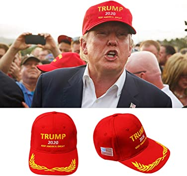 ZSooner Chapeau Trump unisexe portable 2020 A avec visi/ère en coton et extr/émit/é r/églable pour le camping et le cyclisme Noir