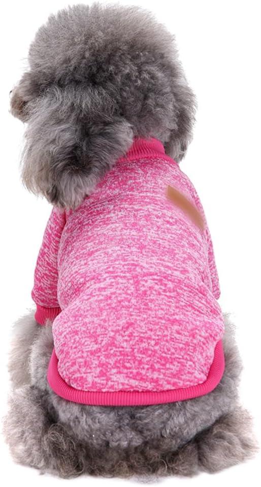 YiJee Cachorro Perro Navidad Su/éter Invierno C/álido Ropa de Punto Mascota Pink XS