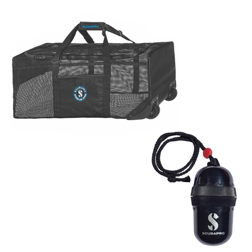 Scubapro Mesh N' Roll Divers Egg Dry-Box w/String Black