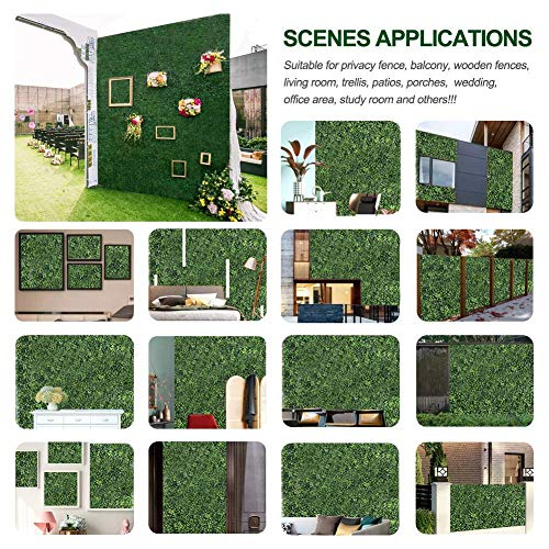 Topnew 12pcs Artificial Boxwood Topiary Hedge Plant Uv Protection Indoor Outdoor Privacy Fence Home Decor Backyard Garden Decoration Greenery Walls 20 X 20 Pricepulse